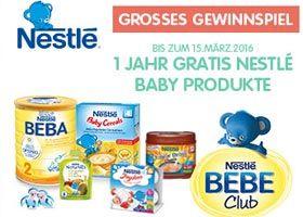 Gewinne mit Vertbaudet und etwas Glück ein Jahr lang gratis Nestlé #Baby Produkte im Wert von CHF 1'800.- , sowie diverse Gutscheine für Nestlé Baby. https://www.alle-gewinnspiele.ch/gewinne-ein-jahr-lang-nestle-baby-produkte/