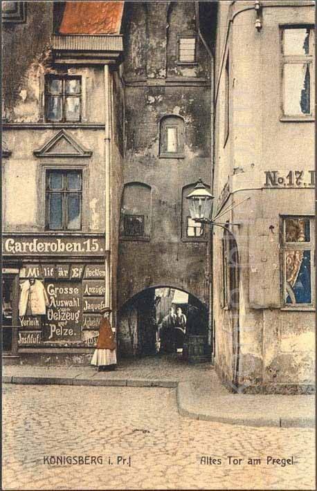 Królewiec, stara brama nad Pregołą (1889-1914)