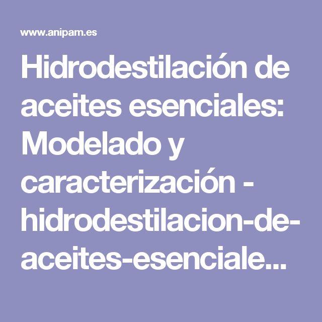 Hidrodestilación de aceites esenciales: Modelado y caracterización - hidrodestilacion-de-aceites-esenciales.pdf