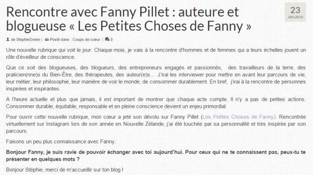 Les Petites Choses de Fanny sur la toile