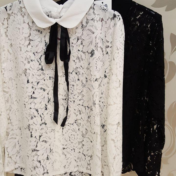#camicia #colletto #merletto #fiocco #a contrasto #valeria #abbigliamento