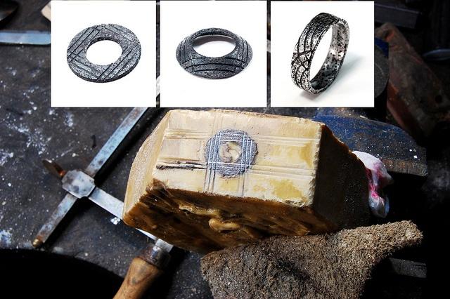 Washer ring in progress by Blind Spot Jewellery, via Flickr