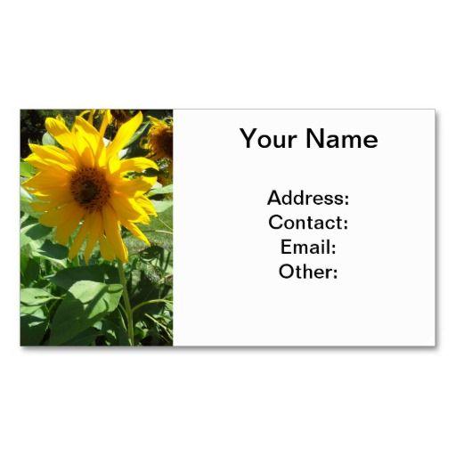Girasol con las tarjetas de visita de las abejas. Las tarjetas de visita adaptables tienen un girasol amarillo bonito con las abejas.