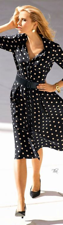 Polka dotted success dressing