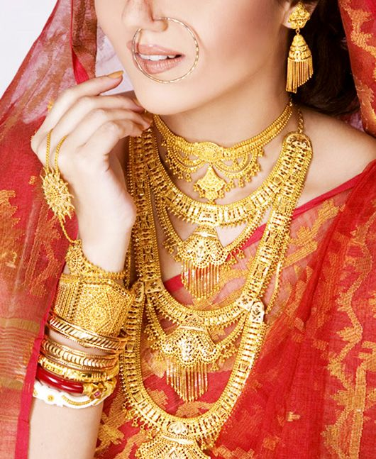 traditional bengali gold wedding jewellery