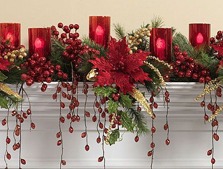 Beautiful red on the mantel.
