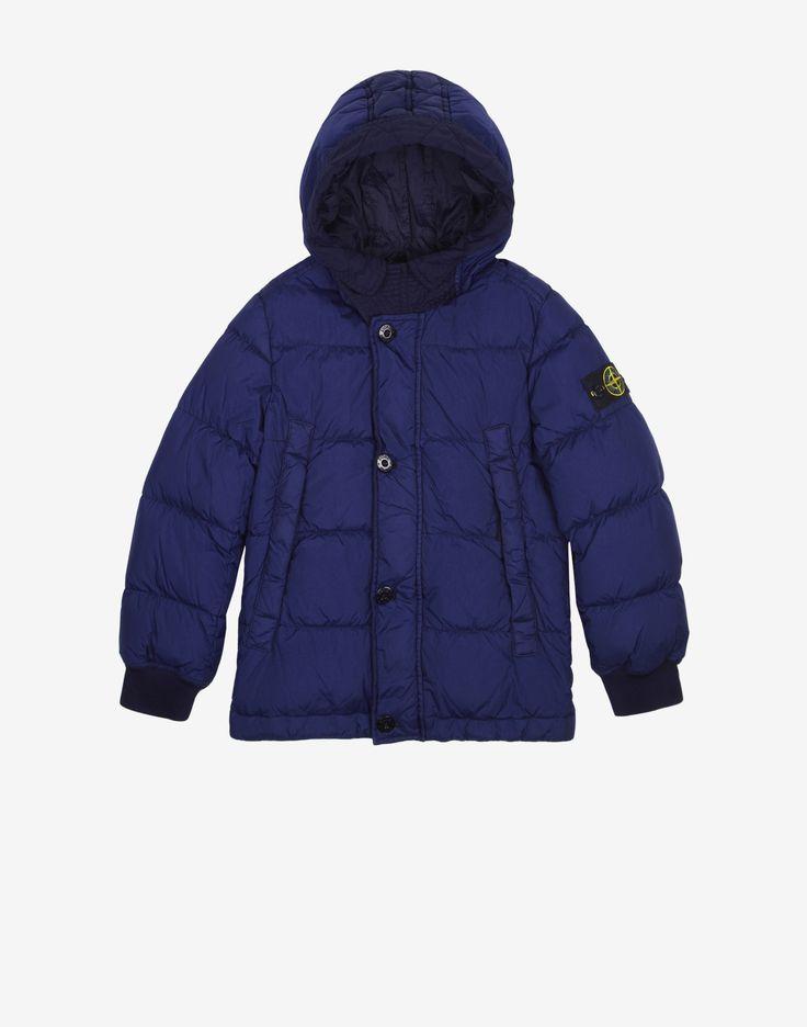40433 GARMENT DYED CRINKLE REPS DOWN Jacket in Deep Blue