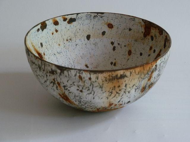 vitreous enamel vessels by Helen Carnac, via Flickr