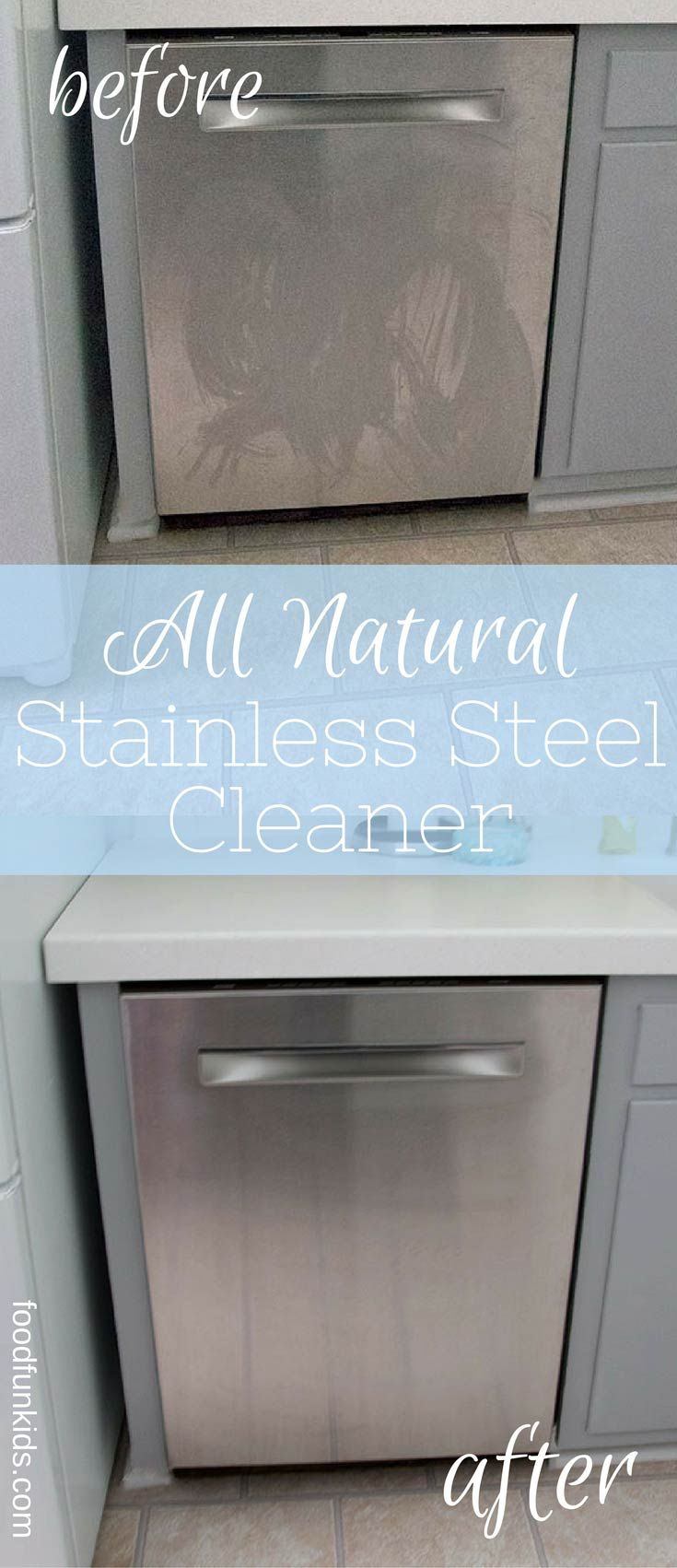 All Natural Homemade Stainless Steel Cleaner with Three Quick and Easy Tips that will leave your stainless steel looking brand new.