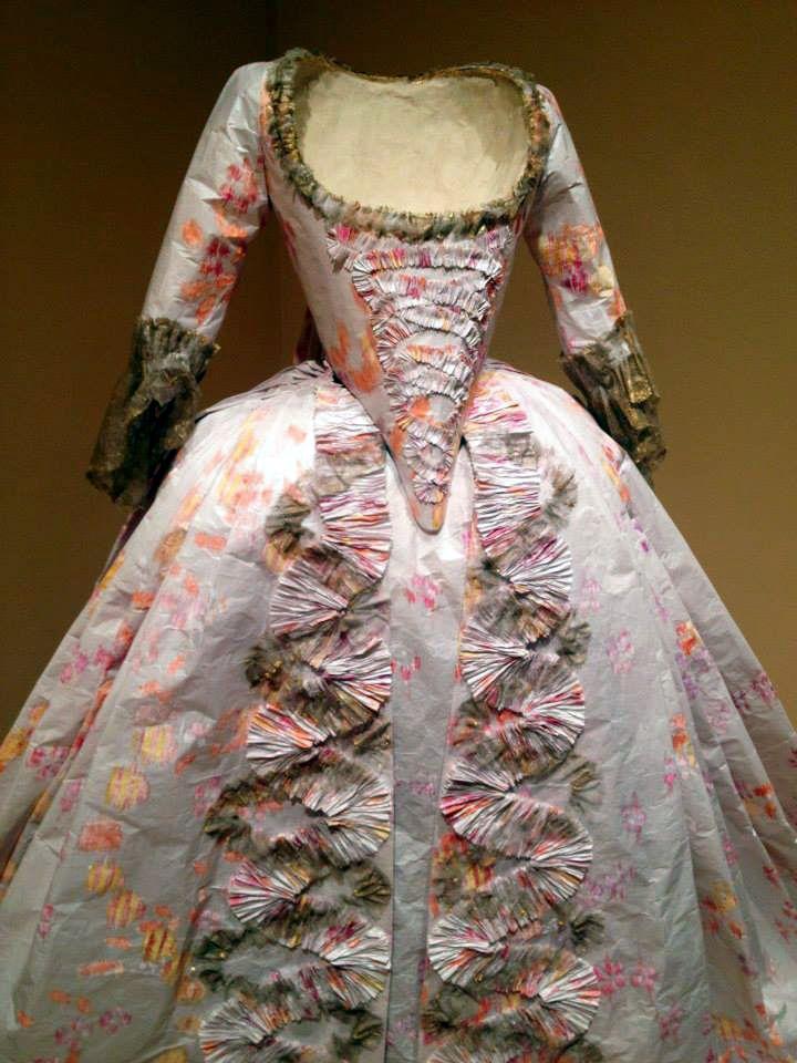 Intricate Paper Dress - Papiers à la Mode: The Exquisite Art of Isabelle de Borchgrave - Baker Museum - Artis--Naples