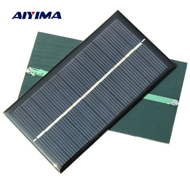 Aiyima 5pcs Solar Panel 1w 6v Polycrystalline Silicon Solar Drip Board For Solar Cell Diy 110 60mm Review Solar Panels Solar Solar Cell