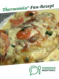 Hähnchen in Mozzarella – Basilikum – Sahnesauce
