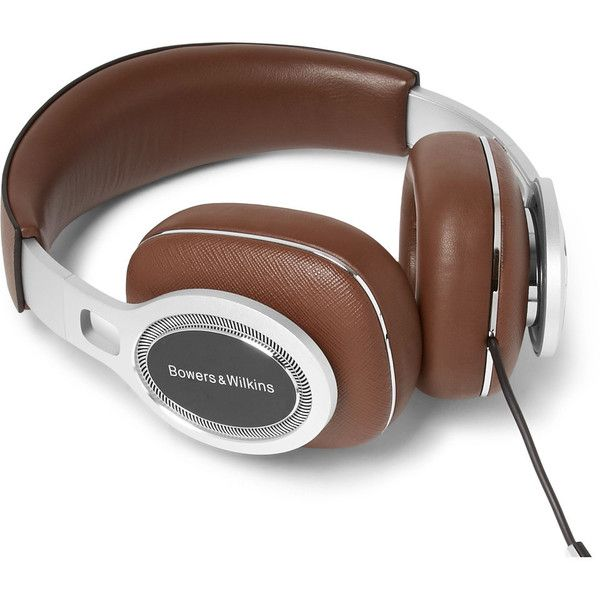 Bowers Wilkins P9 Signature Saffiano Leather Headphones ($900) ❤ liked on Polyvore featuring men's fashion, men's accessories, men's tech accessories and mens travel accessories