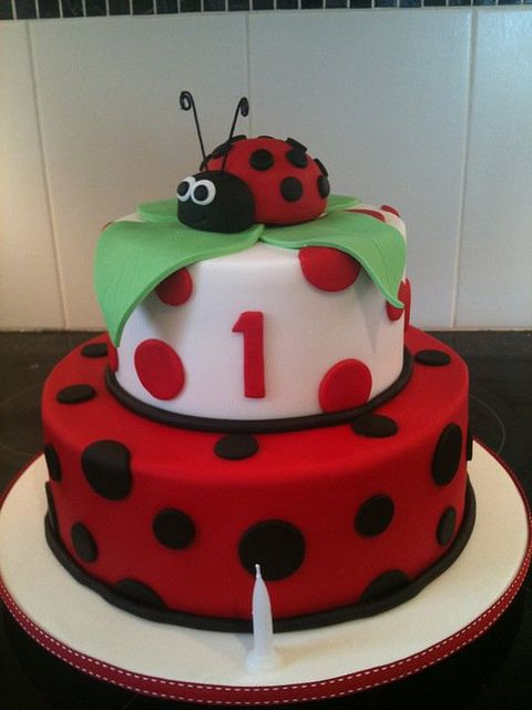 Ladybird cake - Sienna's 2nd Birthday cake by Jen's cakes, via Flickr
