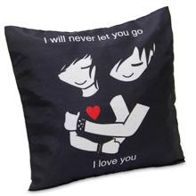 A good gift for girlfriend: Love You Cushion Pamper your loved one by gifting this beautiful romantic cushion with appealing quote.