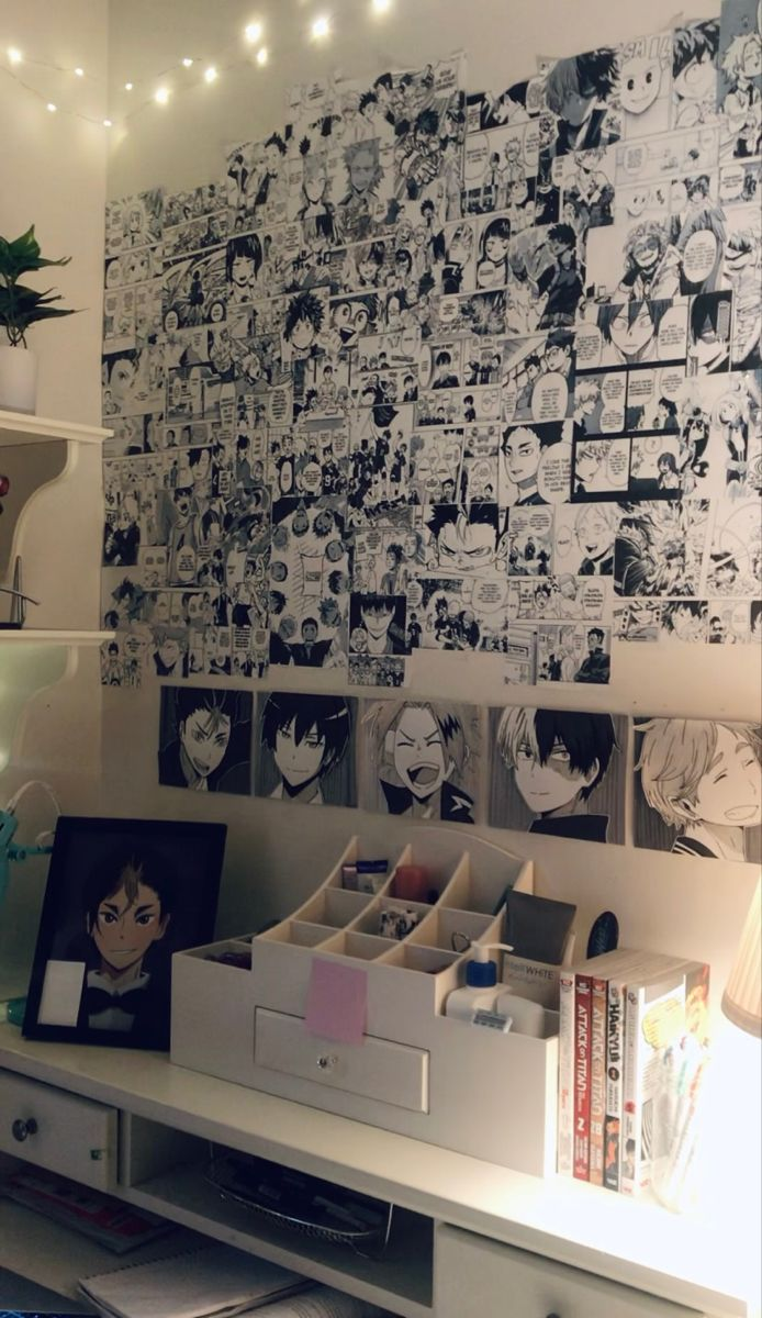 Anime Room Corner In 2021 Room Makeover Bedroom Aesthetic Room Decor Room Ideas Bedroom