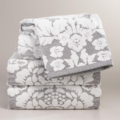 One of my favorite discoveries at WorldMarket.com: Daphne Sculpted Towel Collection