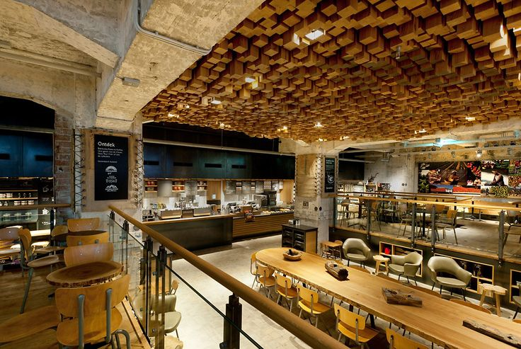 Amsterdam Starbucks Concept StoreCoffee Shops, Ceilings Treatments, Shops Interiors, Starbucks Concept, Interiors Design, Wood Ceilings, Design Concept, Concept Stores, Amsterdam