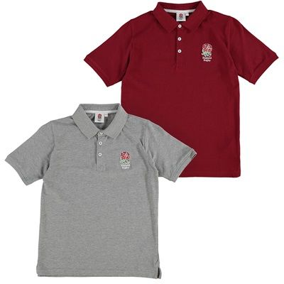 England Polo Shirt - 2 Pack - Red/Grey - Junior: England Polo Shirt - 2 Pack - Red/Grey… #EnglandRugbyShop #EnglandRugbyStore #EnglandRugby