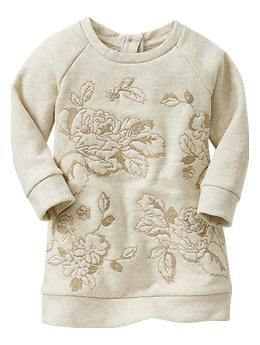 Embroidered floral sweatshirt dress | Gap $25.86