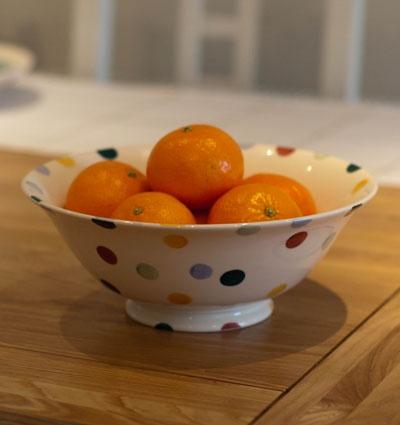 Polka spongeware serving bowl by Emma Bridgewater