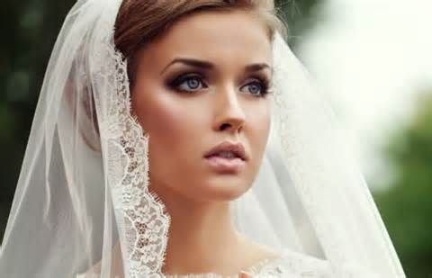 This is look is extraordinary! Would probably like a shade or two darker lip color.    bridal airbrush brunettes blue eyes - - Yahoo Image Search Results
