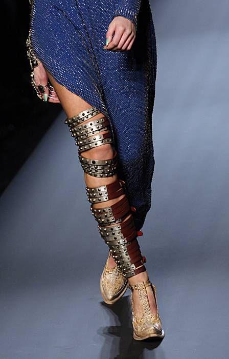 Leg jewelry. Jean Paul Gaultier spring 2010