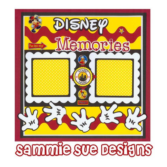 Mickey Mouse Premade Scrapbook Page 12 x 12 by SammieSueDesigns, $10.00