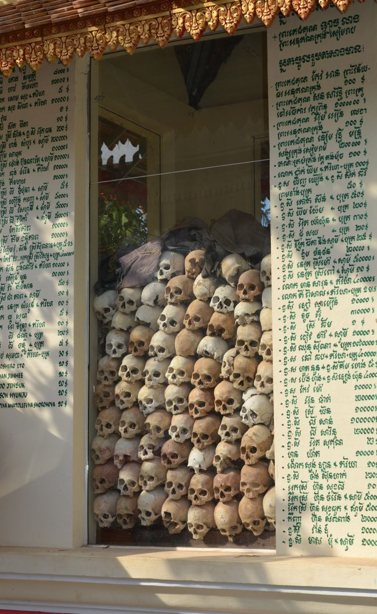 The Killing Fields. Not for my bucket list, but I want to go there. #cambodia