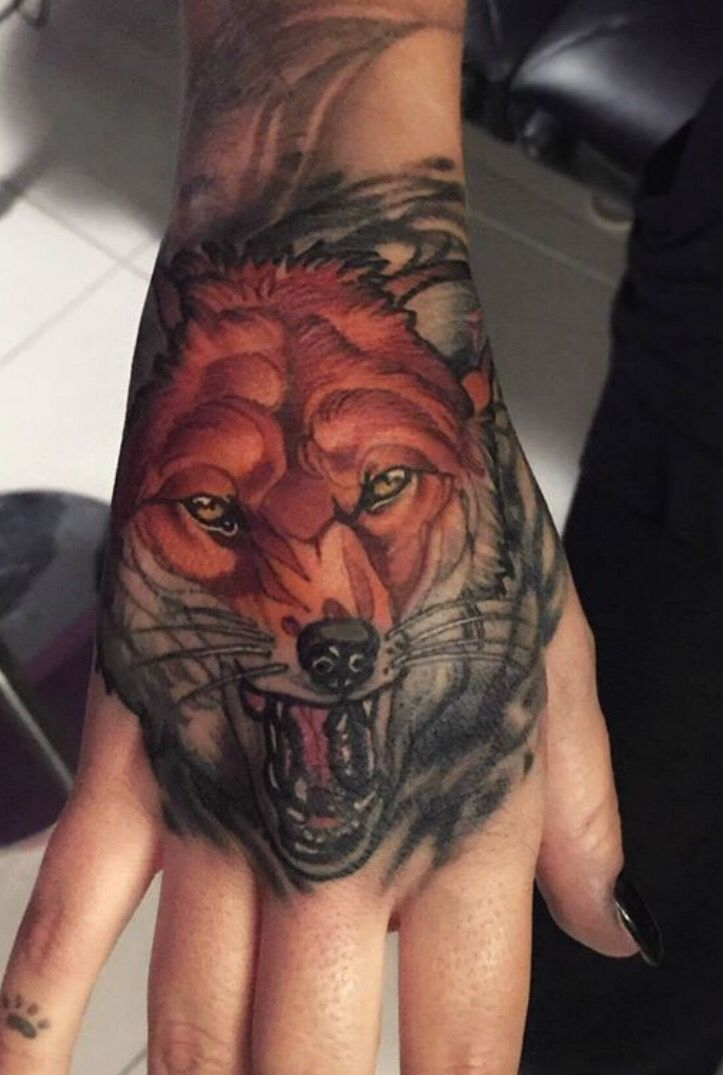 106 best fox and wolfs tattoos ideas images on pinterest for Red wolf tattoo