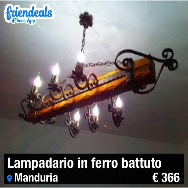 Vendo! Prodotto completamente fatto a mano! LAMPADARIO IN FERRO ...