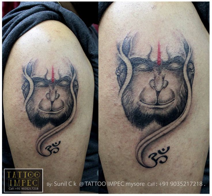 # Hanuman tattoo # om # <3  ;) Get inked from Experienced Tattoo Professional.. Call: Sunil Ck @ +91 9035217218 to book your appointment.  www.facebook.com/tattooimpec