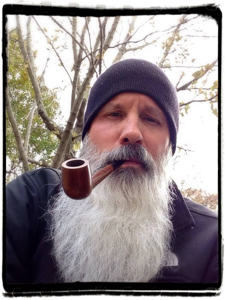 beautiful long white beard - love the coloration in the mustache ! beards bearded man men length natural handsome pipe smoke smoking #beardsforever