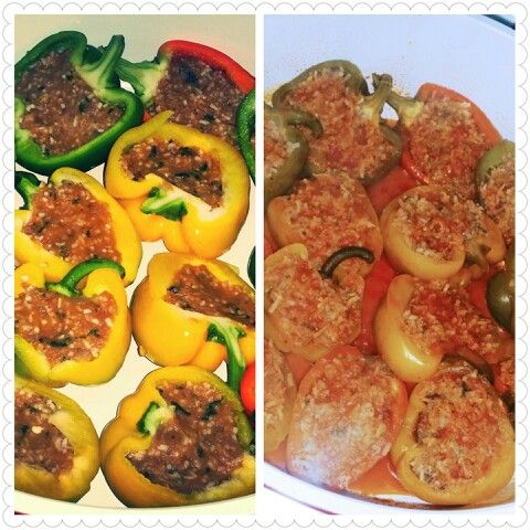 Stuffed bell peppers. ..