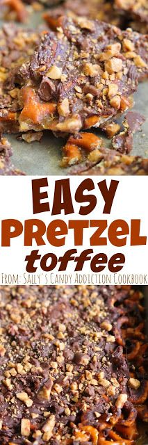 Easy Pretzel Toffee - this toffee is amazing and great for beginner candy makers and experienced candy makes. It comes together in no time.