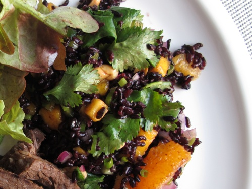 Black Rice Salad with Mango and Peanuts | munchies and crunchies | Pi ...