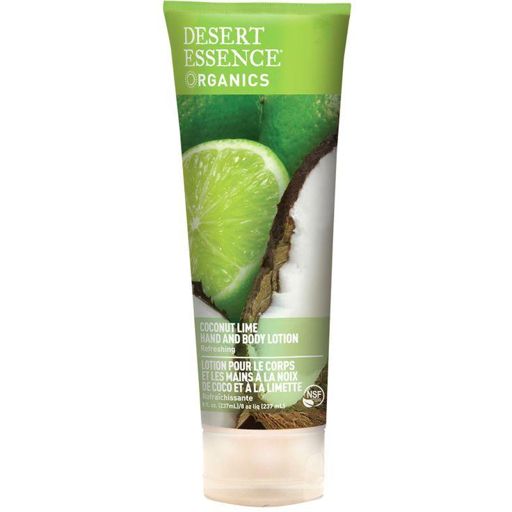 Desert Essence, Organics, Hand and Body Lotion, Coconut Lime, 8 fl oz (237 ml)