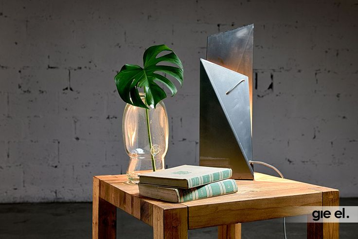 Modern table lamp, made form bent steel. Steel lamp. Gie El Home.