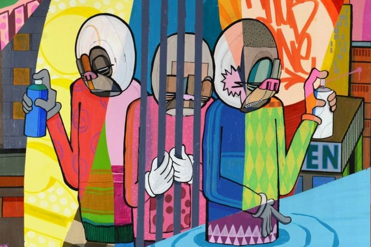 Urban Artist Atle Østrem Pays Homage to Graffiti History at Exhibit No. 9 Gallery