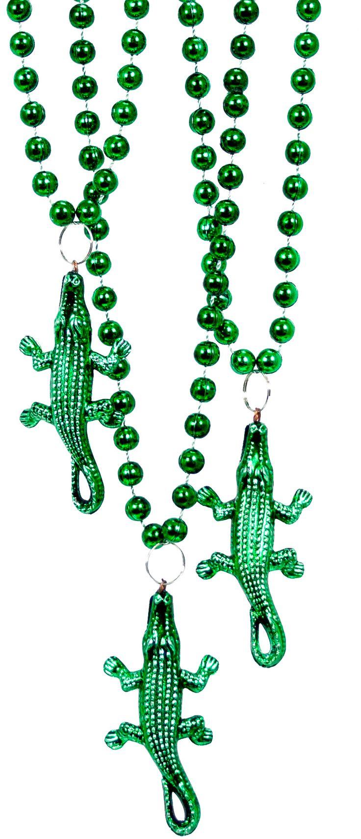 Alligator mardi gras beads