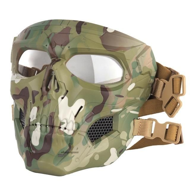 Wosport Outdoor Skull Face Airsoft Mask Knamao In 2020 Airsoft Mask Skull Mask Paintball