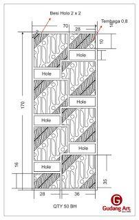 Desain Motif batik Parang - Instalasi Pintu Motif Batik Parang Gapit