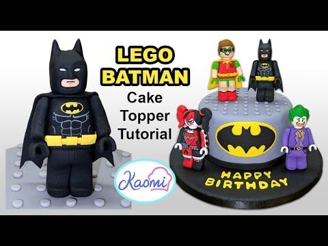 How to make Lego Batman (Cake Topper) / Cómo hacer a Batman de Lego para...