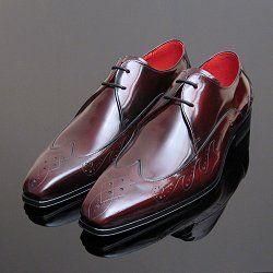 Burgundy Polished Jeffery West Muse Designer Shoes for Men