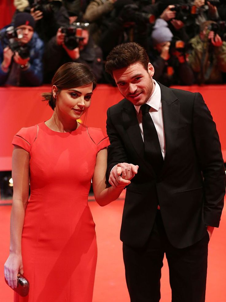 Richard Madden and Jenna Coleman at the 'Cinderella' premiere at the 65th Berlin International Film Festival on February 13th, 2015.