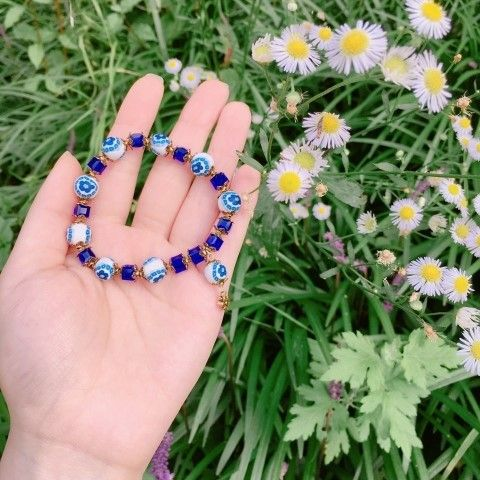 [폴리머클레이] 폴리머클레이로 비즈 팔찌 만들기 : 네이버 블로그  Polymer clay beads bracelet Polymer clay jewelry