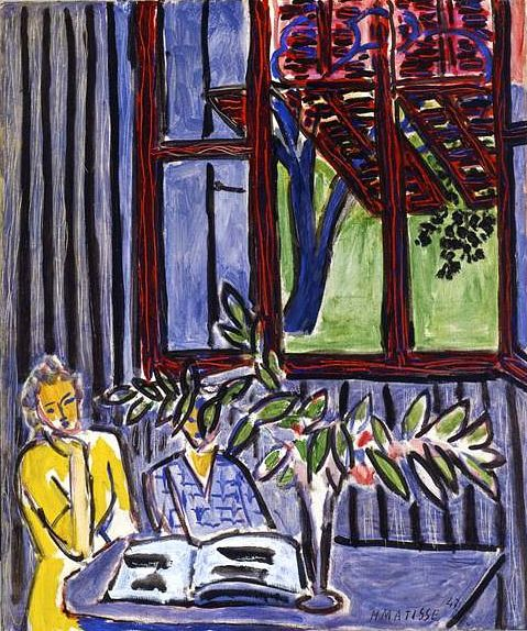 Blue Interior with Two Girls, 1947.  Matisse.