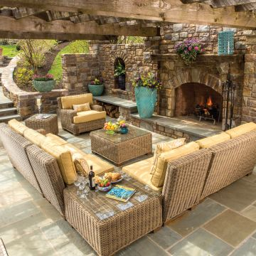 The Positano Sectional Comes In A Light Tan And Thick Wicker Which Helps Create Beautiful Lexington Furnituresquare Planterswicker Patio