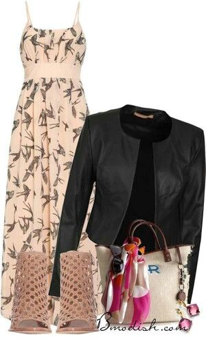 maxi-dress-with-leather-jacket-outfit-bmodish