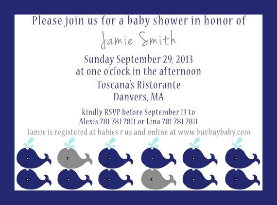 Have a whale of a time  Invite size 5x7 by GoToGirlSignDesigns, $15.00
